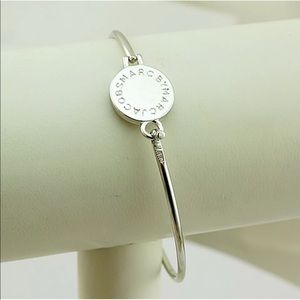 MARC JACOBS Silver Logo Disc Bangle ONLY